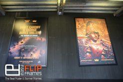 Park ave Armory Billboards, Banner Frame, Aluminum Banner Frame, Black Flip Up Frame, Banner Grip, Snap Frame