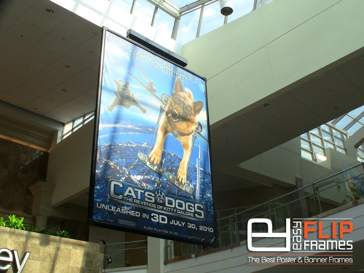 Mall Banner Display, Banner Ad Frame, Mall Advertising System, Movie Banner Frame, Flip up Frame